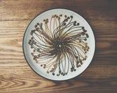 Royal Copenhagen Mid Century Ceramic Decorative Plate // Danish Modern Starburst // Handmade Pottery