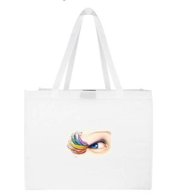 Tote Bag for Feather mohawk, Feather Headdress, Festival gear, beach, accessories,