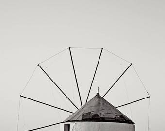 Windmill Black and White Photograph Print