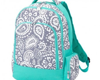 Parker Paisley Backpack * Monogrammed FREE * / Large Girls Backpack / Personalized Backpack / Back to School Gear / FREE Personalization