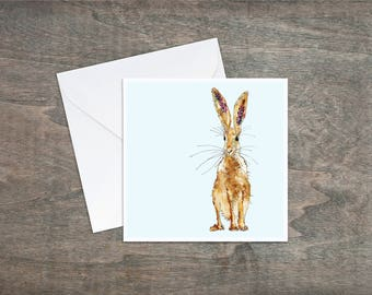 Hare, baby blue - Art Card
