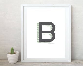 Monogram Art Print - Digital Download
