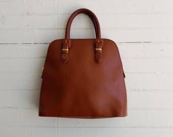 SALE vintage UNGARO tan leather tote bag purse, vintage designer bag