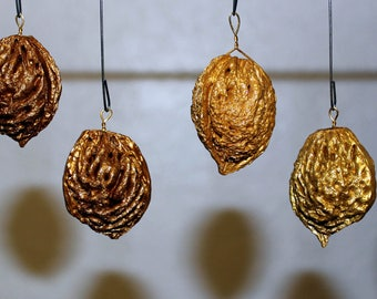 Gold Painted Peach Stones
