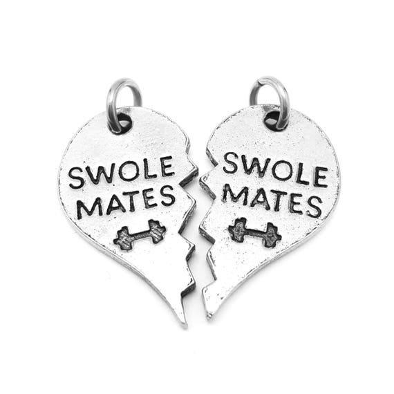 Swole Mates Charm Set - Add a Charm to a Custom Charm Bracelets, Necklaces or Key Chains - Nickel Free Charms