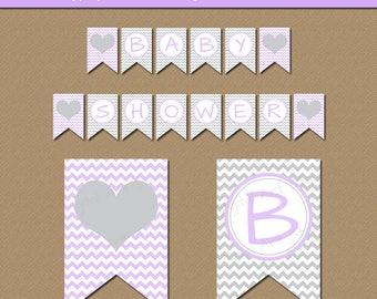 lavender and grey etsy. Black Bedroom Furniture Sets. Home Design Ideas