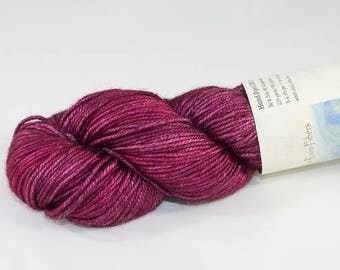 DK Silk and Wool, Hand Dyed in Vampire Kiss
