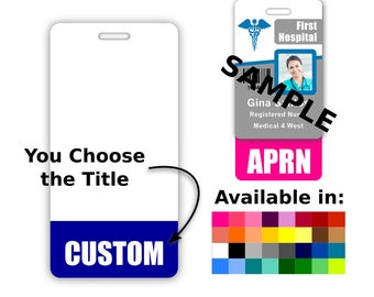 Custom Badge Buddy Vertical Credential Title Role