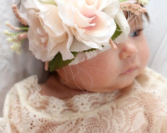 Floral Headband, Boho Headband, Photo Prop Headband, Boho Wedding, Floral Wedding Headband,Baby headband, Flower Girl