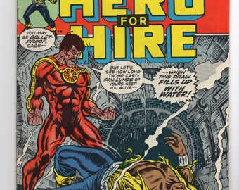"Luke Cage, Hero For Hire #10 ""The Lucky ... and the Dead"" - Marvel Comics 1973 - VF/VF+ Grade - Jessica Jones, The Defenders, Netflix Hero"