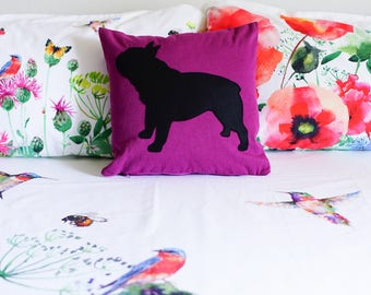 French bulldog pillow cover, pet gift idea, frenchie pillow, pillow cover, Frenchie, cojin, pet portrait