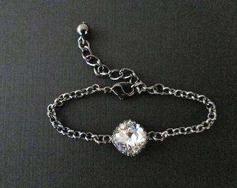 NEW Swarovski Crystal Bracelet/Bridesmaid Bracelet/Clear Swarovski Bracelet/ Red Bridesmaid Jewelry/Blue Crystal Bracelet/Bridesmaid Jewelry