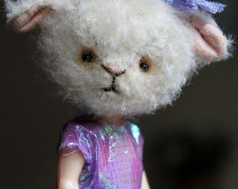 Sadie a little anthropomorphic lamb girl
