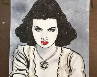 Joan Bennett, Actress Original Sketch