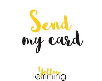 Sending Service,Sending Direct Card Service,Send My Card Service,Handwritten Message Inside Card,Send Direct To Recipient