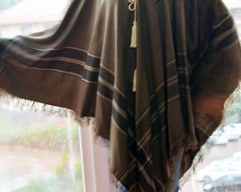 Light Brown Poncho,  Winter Poncho, Winter scarf,  Women's poncho, Christmas gifts, Bohemian Poncho