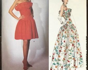UNCUT Vintage 1980's Dress Sewing Pattern Vogue 2871 Vogue Paris Original Givenchy Size 12-14-16 Prom, Wedding, Formal, Ball Gown