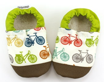 baby bicycle shoes bicycle clothing baby booties organic baby shoes baby booties baby boy shoes baby girl shoes soft sole shoes rubber soles
