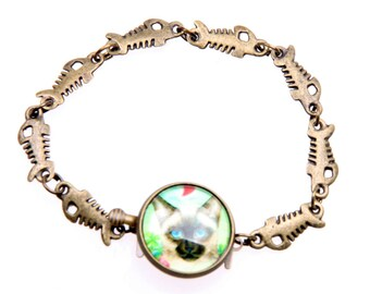 bracelet Siamese cat (1616B)