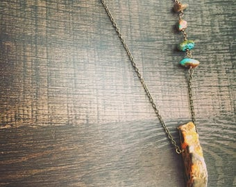 Agate + Turquoise Necklace