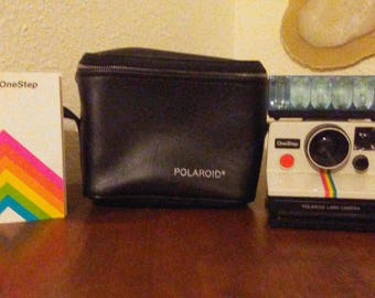 Polaroid One Step Land Camera with Flash and Bag