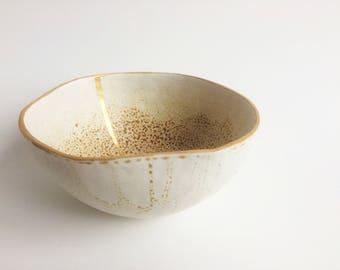 SNAKE / Porcelain decorative bowl, unique pieces