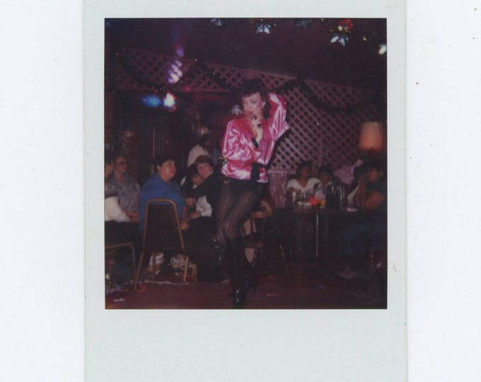 Female Impersonator: Vintage Polaroid SX-70 Snapshot Photo [81641]