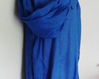 L Adventurer's Tunic in Blue Linen