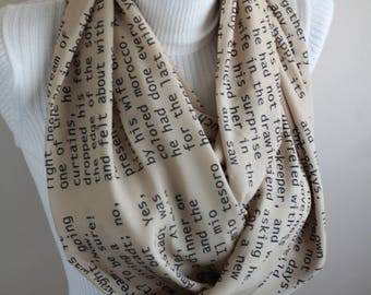 Anna Karenina Scarf Leo Tolstoy Infinity Scarf Book Quote Accessories Librarian Christmas Gifts for Student Tolstoy Quote Literature Teacher