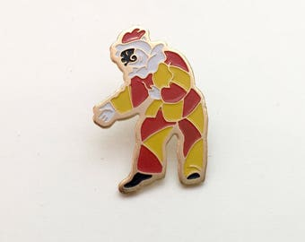 True Vintage Enamel Pin Harlequin / Clown from Venice, Italy