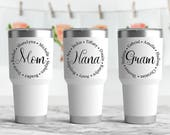 Grandma Mom Nana Mommy Monogram Vinyl Decal, Vinyl Decal, Yeti Decal, Car Decal, Coffee Mug Decal, Mother's Day Gift, Grandparent's Day Gift