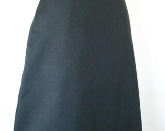 Odette black solid 100% cotton skirt