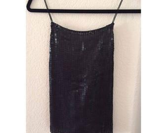 DKNY Evening Tank Top Black Sequin
