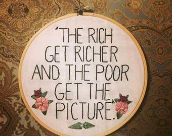 Rich Get Richer Embroidery