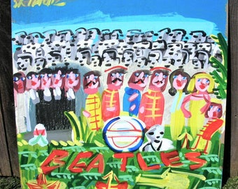 Original Painting - Beatles Sgt Pepper's Album Cover - Large, Bright, Bold, Curious - Speed Painting?