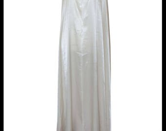 Ivory Shimmer Satin Cloak lined with Shimmer Satin. Ideal for LARP LRP Medieval Winter Wedding. Made especially for you. NEW!