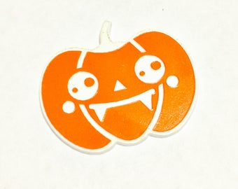 Laser Cut Supplies- 1 Piece. Kawaii Halloween Pumpkin Vampire Charms - Laser Cut Acrylic-Laser Cut- Little Laser Lab