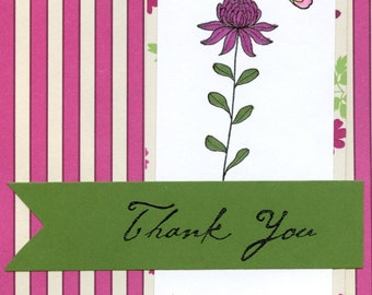 Field Flower 'Thank You' Notecards Assorted (SET of 5)  #308