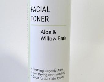 Aloe & Willow Bark Toner, Antioxidant Facial Care, Sensitive Dry Skin