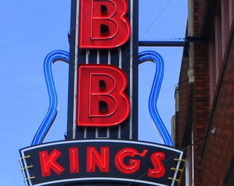B. B. King's Blues Club on the Legendary Beale Street, Fine Art Photograph