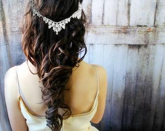 Wedding hair accessories, Bridal Headpiece, Bridal Headband, Hair Jewelry, Bridal Hair Chain, Wedding Hair Accessories Bridal hair clip