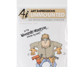 Art Impressions Cling Cushion Stamp Set Weekend Warrior Father's Day