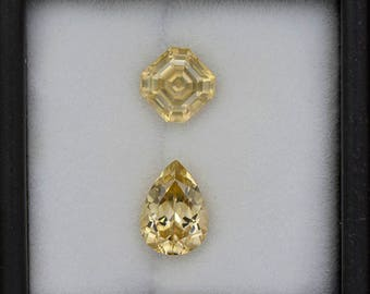 Scintillating Bright Yellow Zircon Gemstone Set from Tanzania 4.65 tcw.