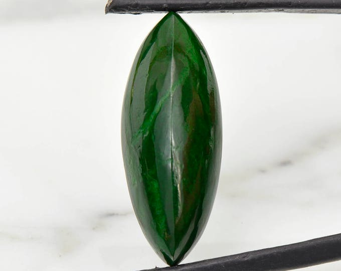 FLASH SALE Fine Forest Green Maw Sit Sit Cabochon from Burma 13.43 cts.