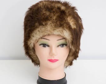 Vintage Fur Hat Brown Pillbox Hat Genuine Fur Hat Warm Winter Hat  sc 1 st  Etsy & 60s pillbox hat | Etsy Aboutintivar.Com