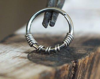 Niobium Nose Ring Etsy