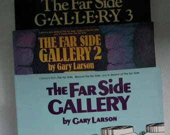The Far Side Gallery by Gary Larson, Volumes One, Two, Three 1988 to 1989