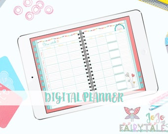 2018 Digital Planner for GoodNotes on IPhone and IPad with functioning tabs