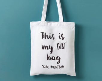 This Is My Gin Bag, I Mean Gym Tote Bag