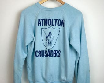 Vintage Atholton Crusaders Crew Neck Sweatshirt